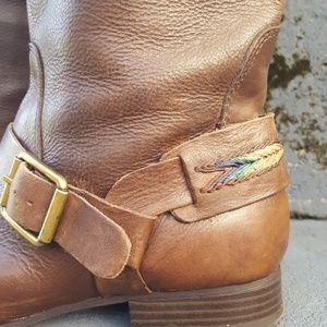 Lucky Brand Shoes - Lucky brand May brown leather riding boot